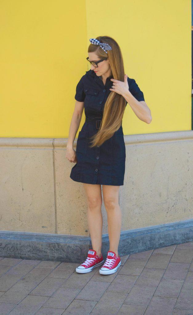 Dark Denim Button Up Dress