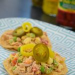 Spicy Chicken Salad Tostada