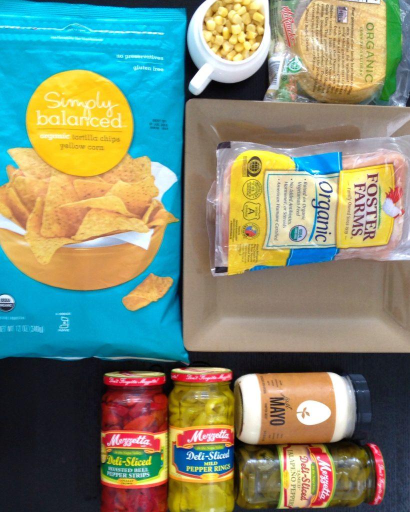 Spicy Chicken Salad tostada - Mezzetta Summer Survival Kit
