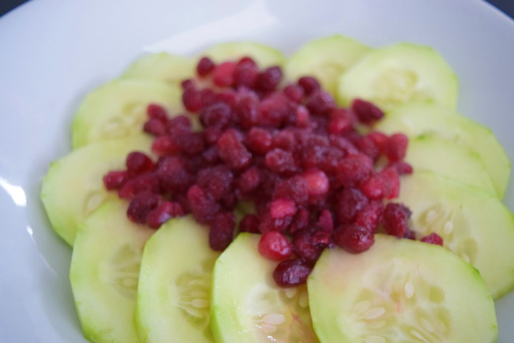 Pomegranate-Cucumber-Snack