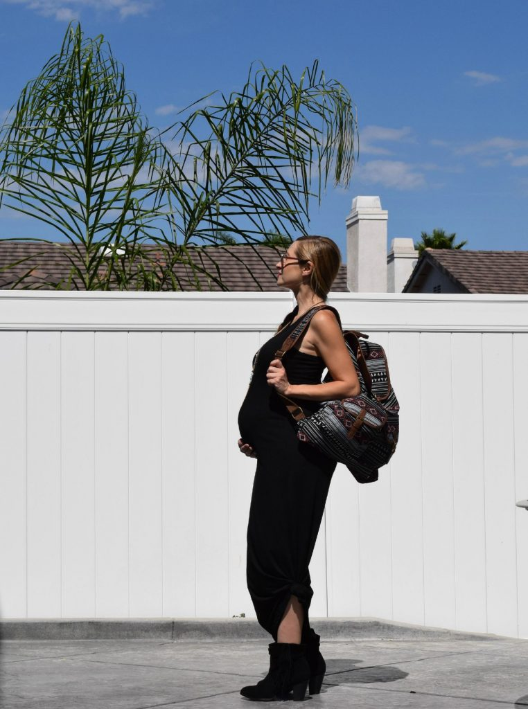 Mossimo-Target-Geometric-Backpack-Style The Bump-Pregnancy-Travel-Bag