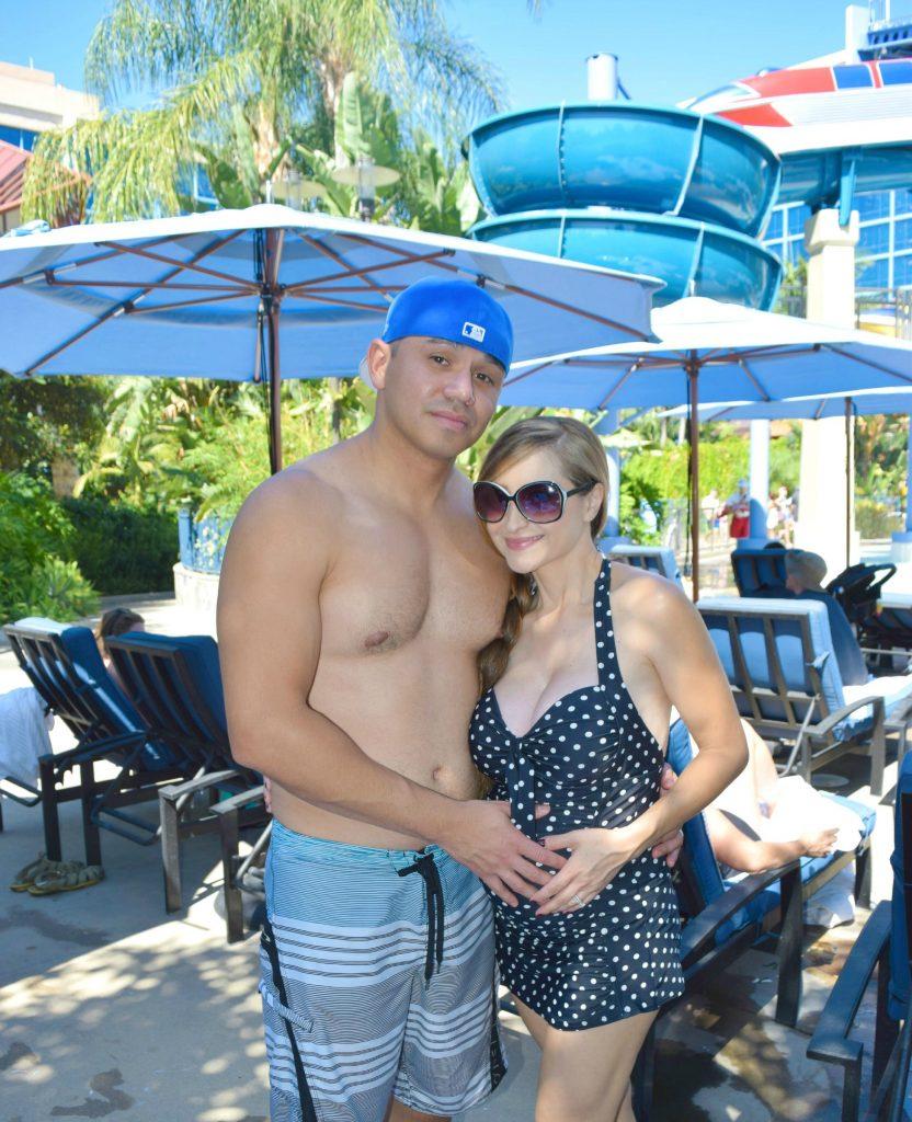 Disneyland-Hotel-Pool-CA-StyleTheBump-Pregnant
