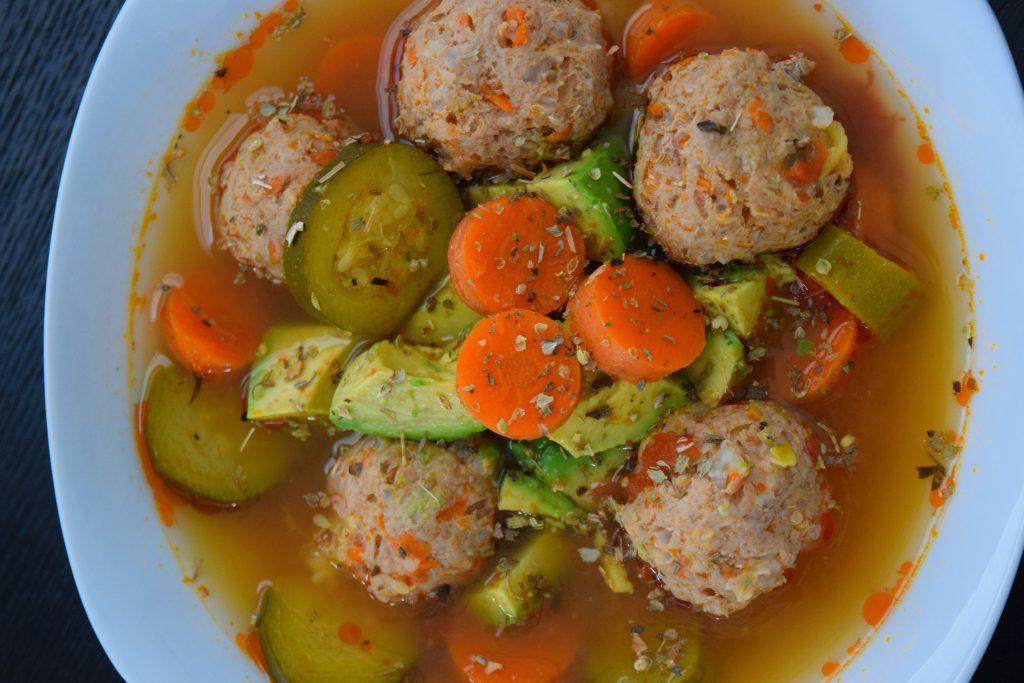 Mexican Meatball Soup - Albondigas - Crockpot - Ragu