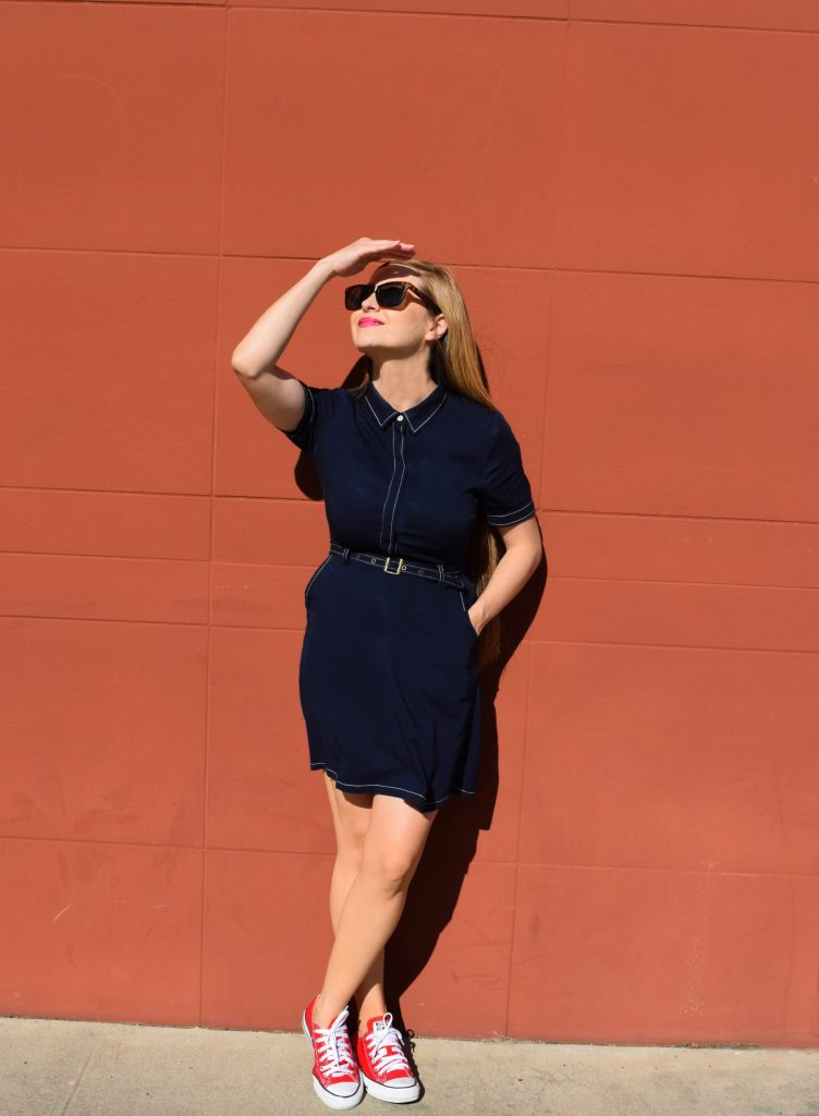 navy-collar-dress-red-shoes-Mom-Fashion-Tips-forever21-converse-Target