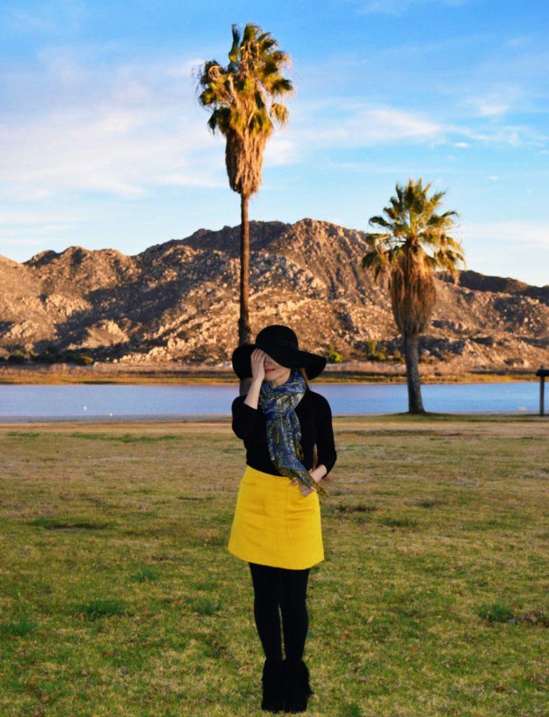 Mustard-Mini-Skirt