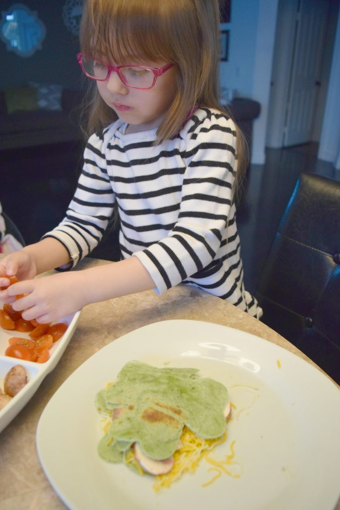 St Patricks Day Quesadillas - Cooking With Kids