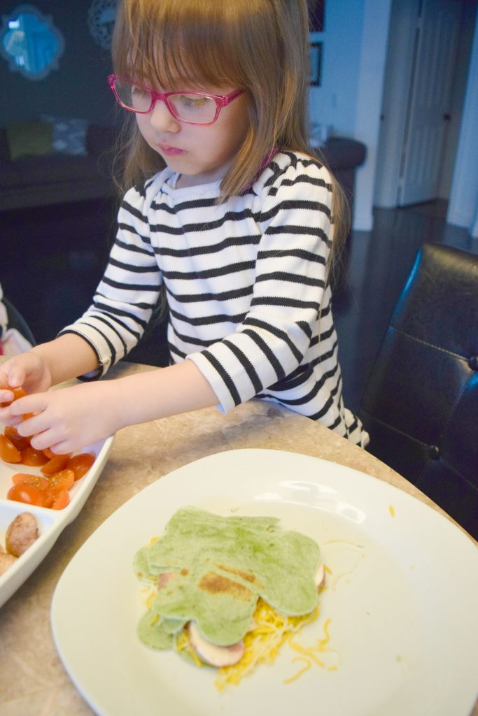 St Patties-Shamrock-Quesadilla-Cooking with kid-St Patricks Day