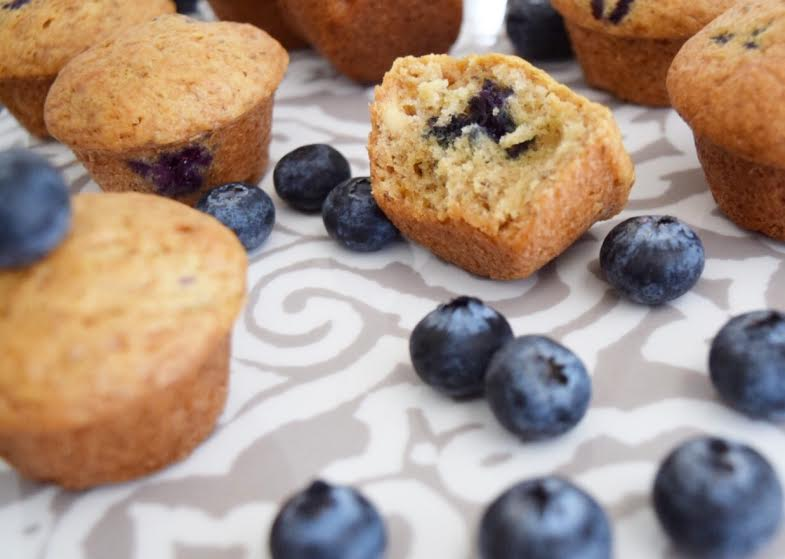 Cooking With Kids: Chia Blueberry Banana Mini Muffins