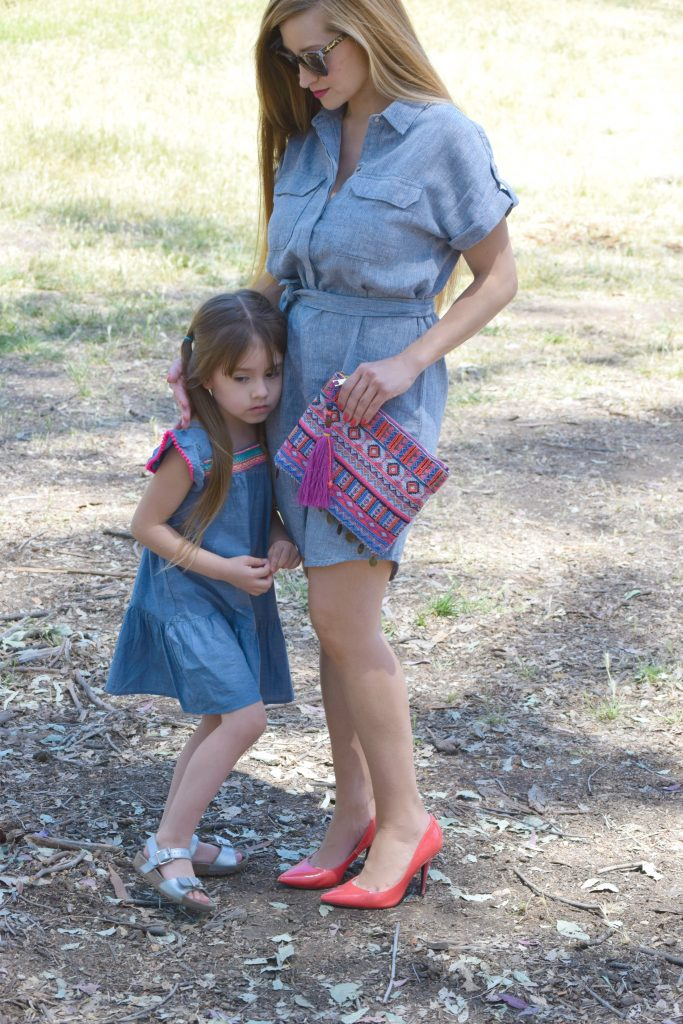 Banana Republic-Chambray-shirtdress-Target-Clutch-Toddler