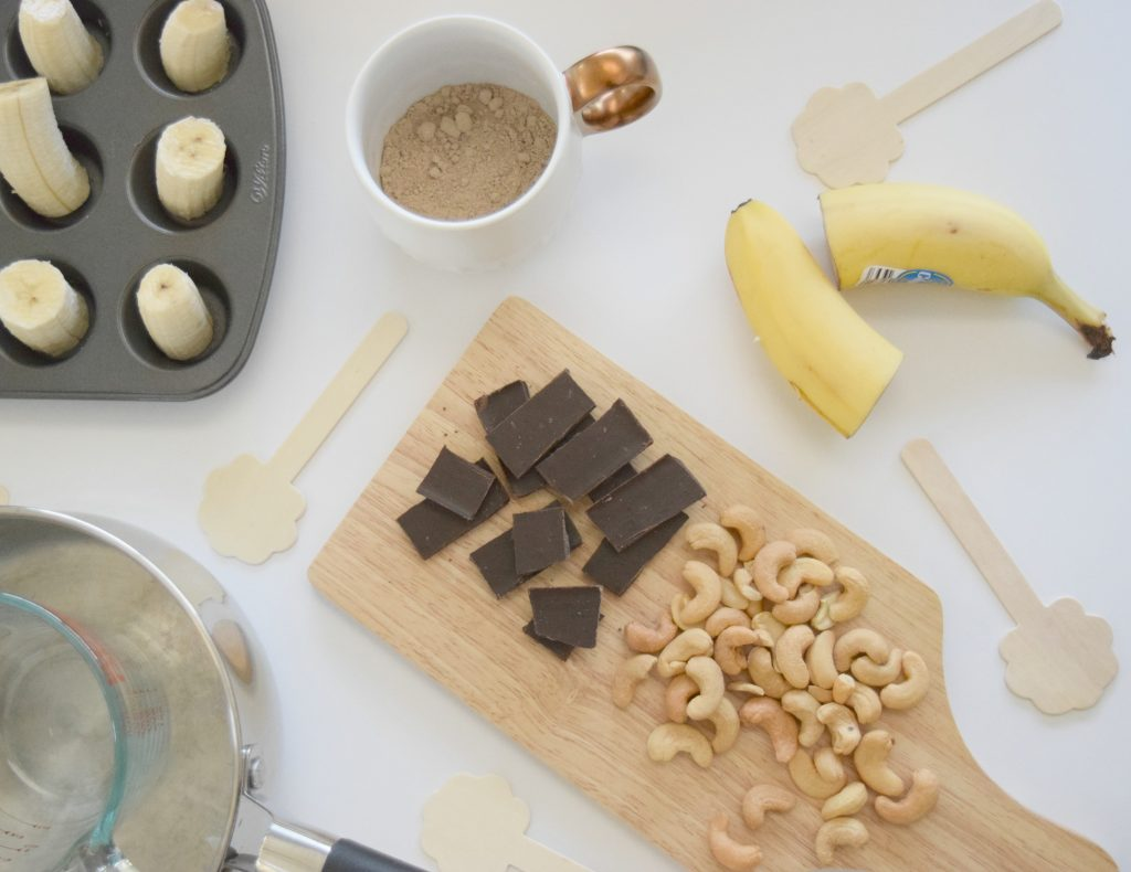 Chocolate Covered Banana-Popsicle-Mini-Zoku-Frozen-Treat-Snack