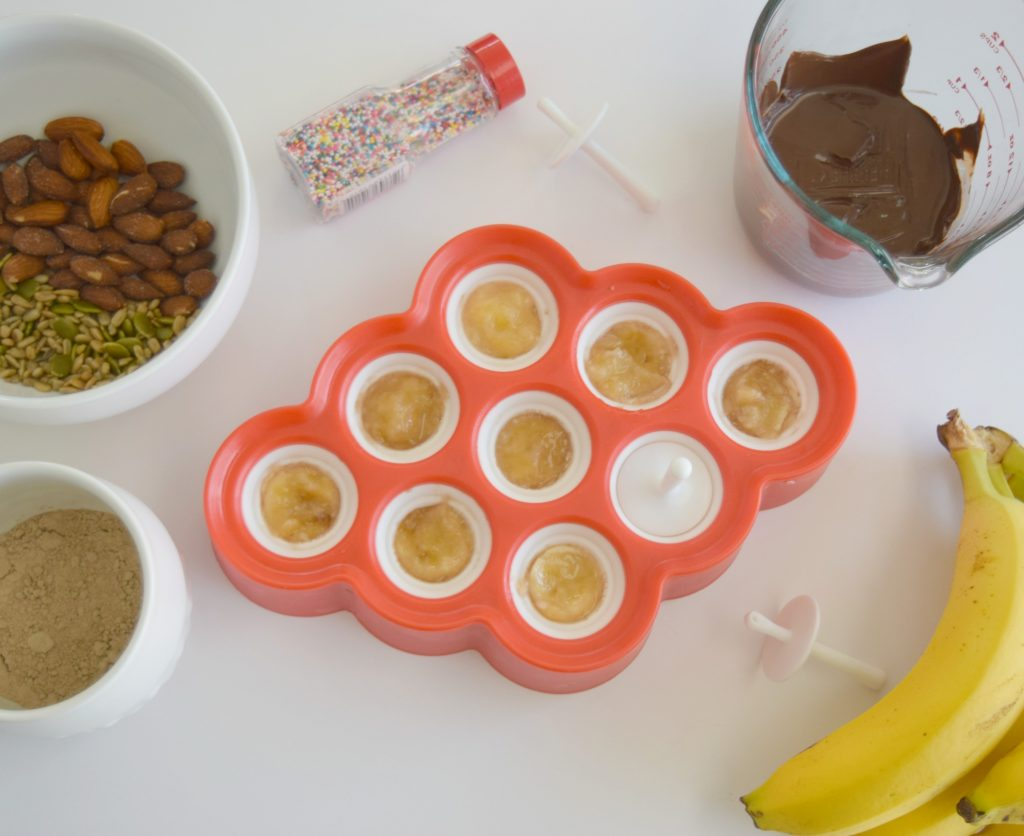 Chocolate Covered Banana-Popsicle-Mini-Zoku-Frozen-Treat-Snack