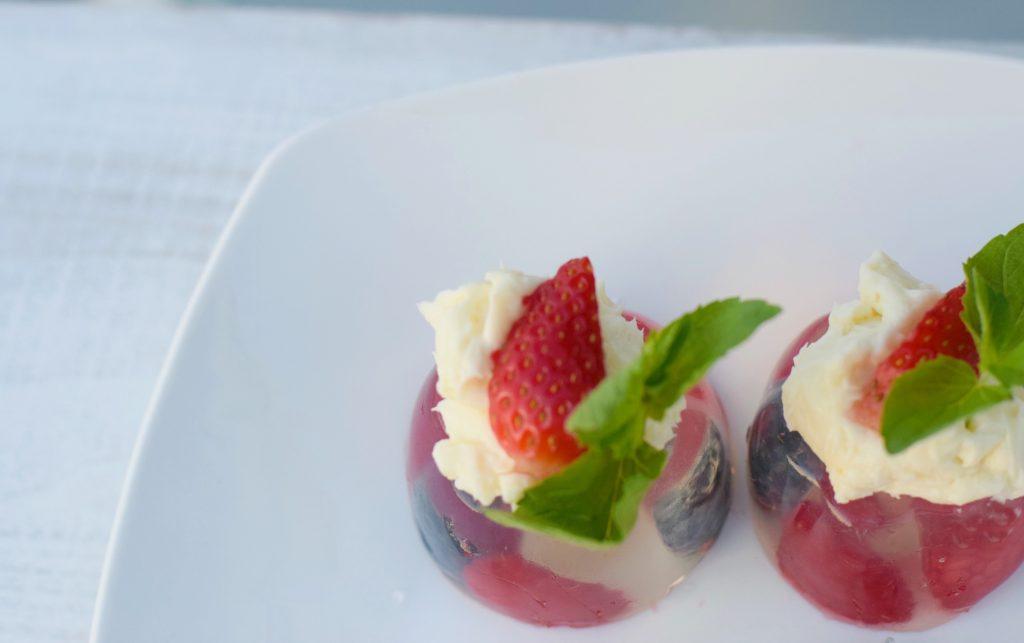 Coconut-Creme Fraiche-Berry-Gelatin