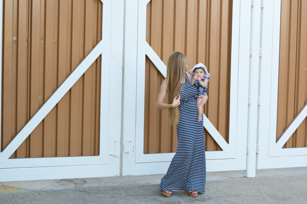 Maxi-dress-navy-white-tjmaxx