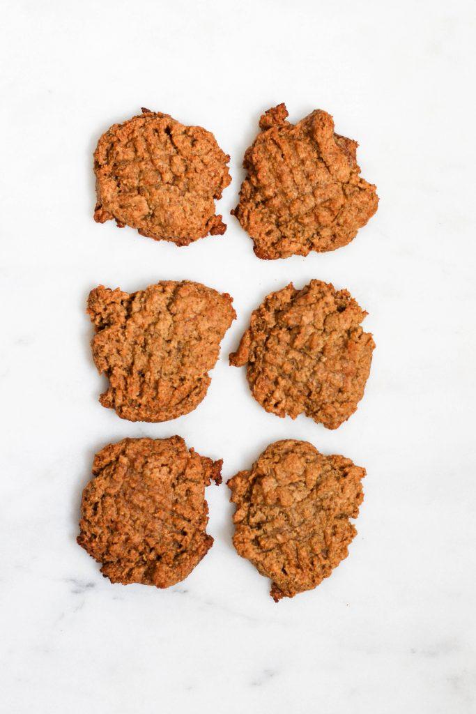 Breakfast Peanut Butter Cookies - No sugar added