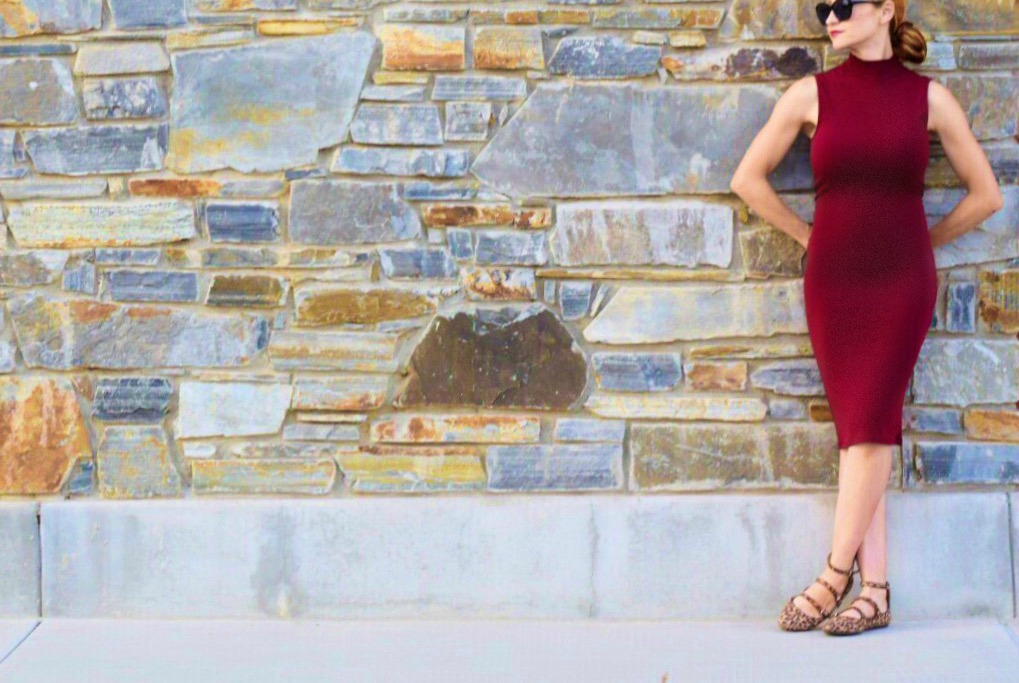 Forever21-Dress-Burgundy-Sleeveless