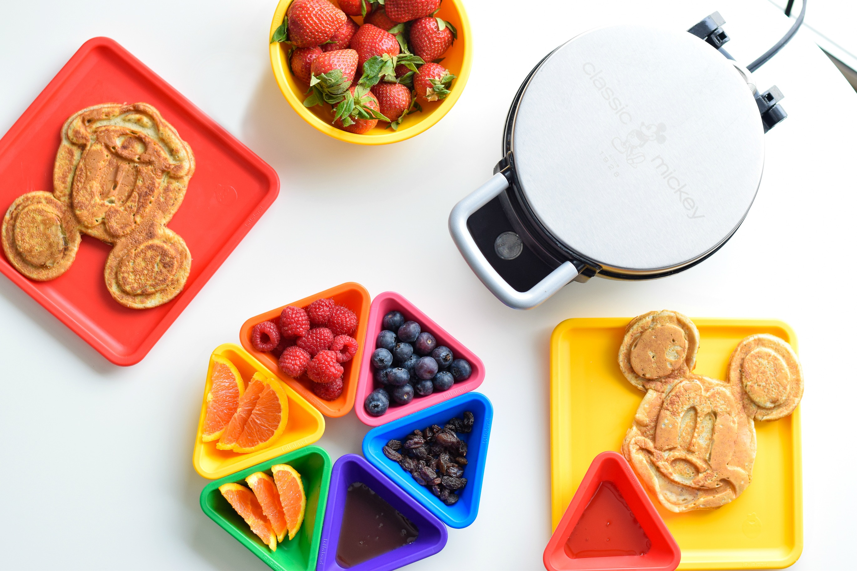 Mickey Mouse Waffles With A Healthier Twist