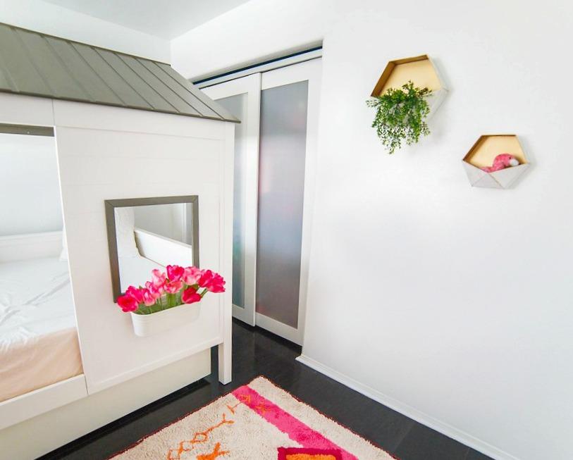 Girls Modern Animal Bedroom Makeover - Playroom-Zoo theme-house bed