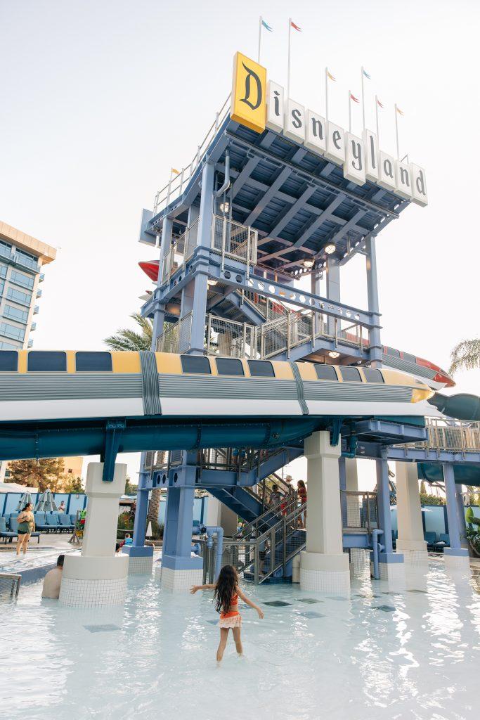Disneyland Hotel Monorail Slides-5 reasons to stay at the Disneyland Hotel-Celebrate a birthday-Magic hour-Geenie+