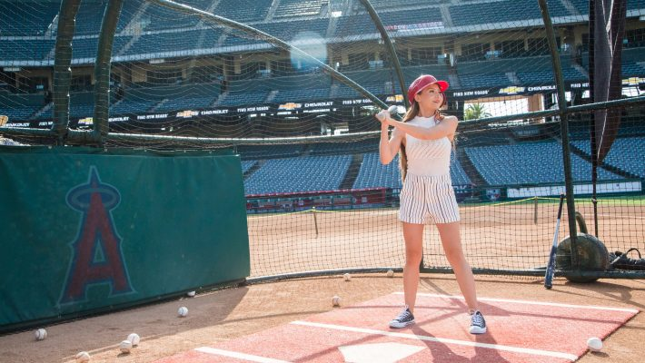 The-Ultimate-Baseball-Experience-Chevrolet-Silverado-2020-Angel-Stadium-MLB-batting-practice-girls