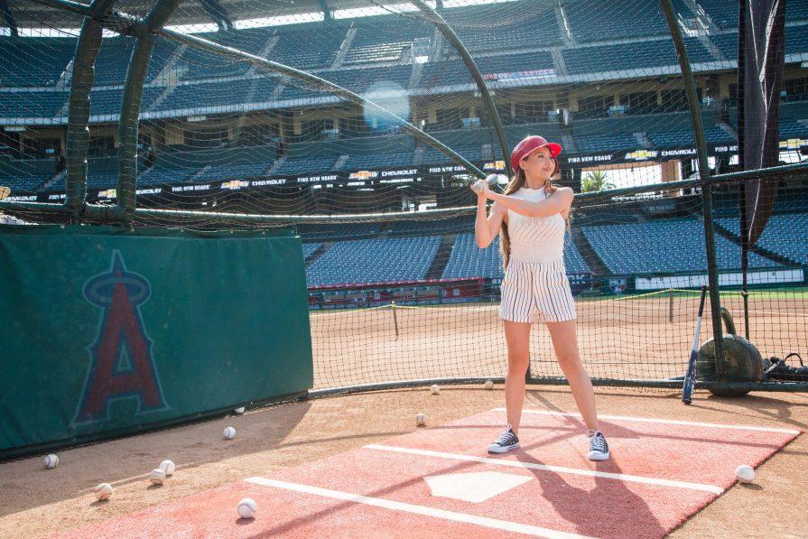 The-Ultimate-Baseball-Experience-Chevrolet-Silverado-2020-Angel-Stadium-MLB-batting-practice-girls