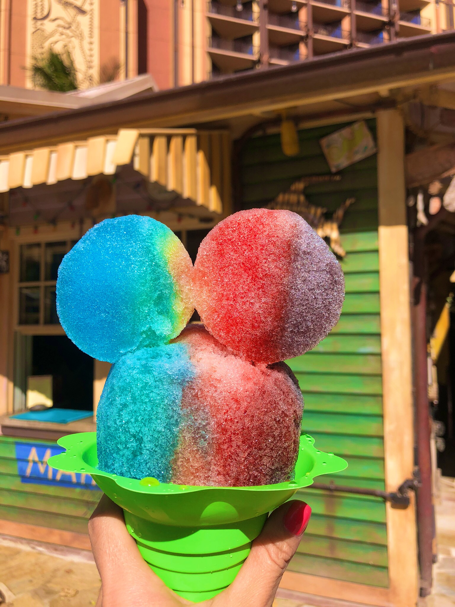 Mickey-Snowcone-Disney's Aulani Most Instagram-Worthy Spots-more affordable than you think-deals-family travel-Hawaii