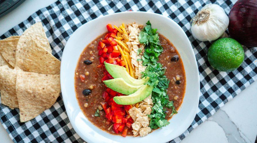 Lentil Tortilla Soup-Crocktober-Crockpot-fall recipe-the mother overload