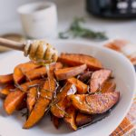Honey Rosemary Glazed Sweet Potatoes – A Thanksgiving Side Dish