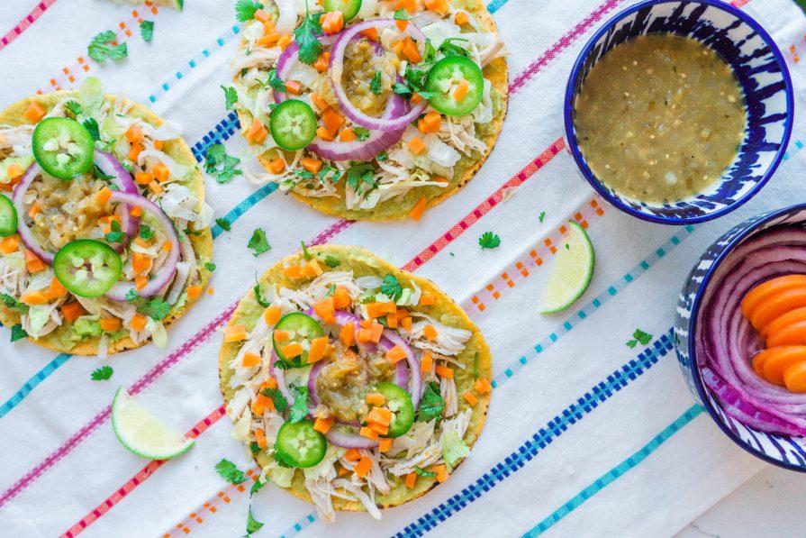 Easy to make Salsa Verde Tostadas- Recipe- Mexican Food- crockpot-Insta Pot