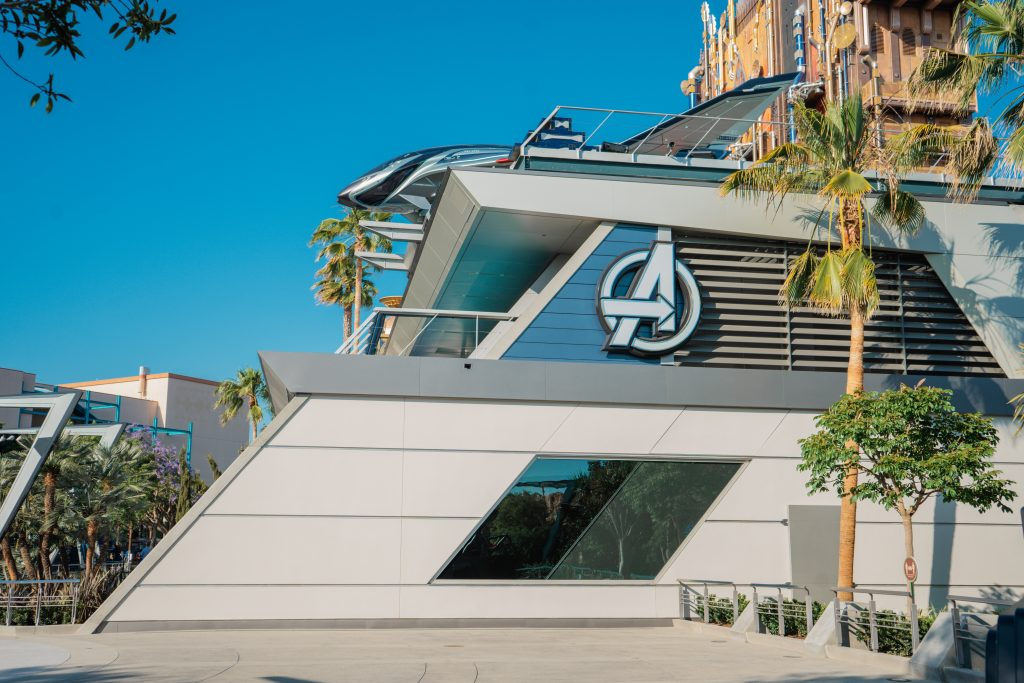 Avengers Campus-Top 10 Parent Tips-Disney California Adventure Park- WEB Slingers-PYM Test Kitchen-Food Guide-Marvel-MCU- Score more points- what to bring- what to see do