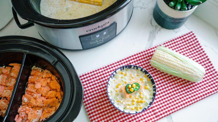 Summer Corn Chowder - Dairy-free - A Flexitarian Recipe Slow Cooker - Crockpot Dinner-Summer bbq 2021 recipe