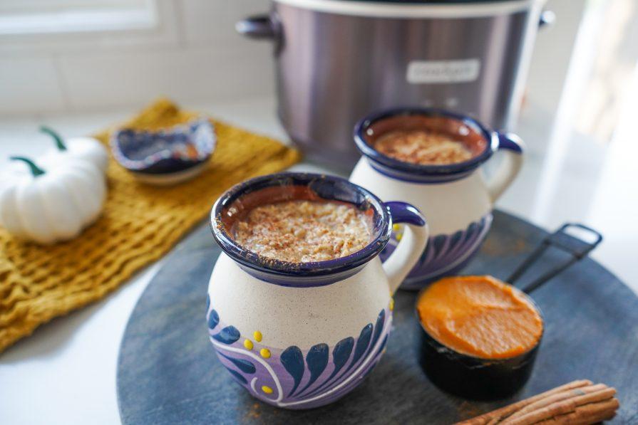 Pumpkin Pie Slow Cooker Oatmeal Recipe-Pumpkin Pie Slow Cooker Oatmeal Recipe-Crockpot-Fall Vegan Recipe 2021